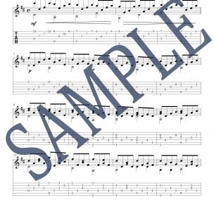 Pachelbel Canon Guitar Score Sample
